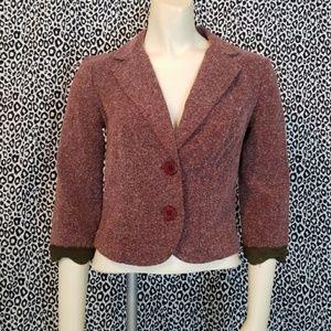 💋3 for $24💋XOXO Tweed Look Blazer w Lace